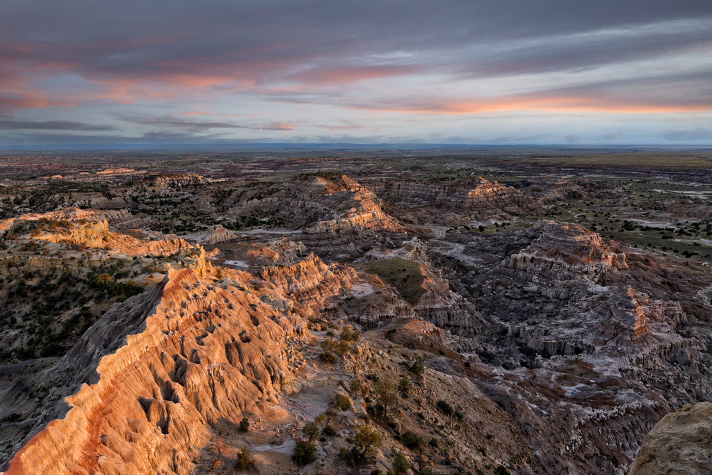 Badlands Overlook at Sunset