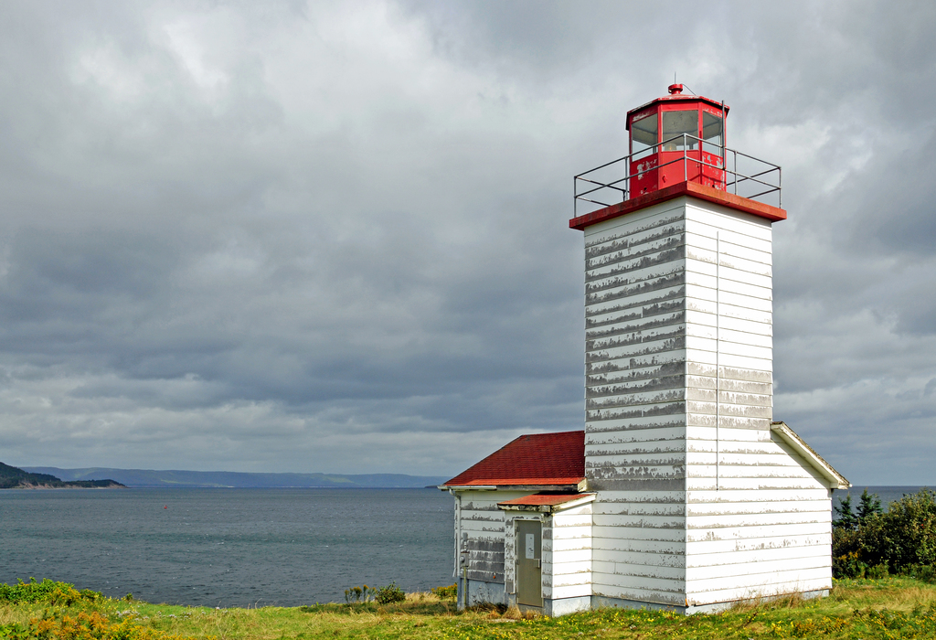 Black Rock Point Lighthouse on a cloudy day image