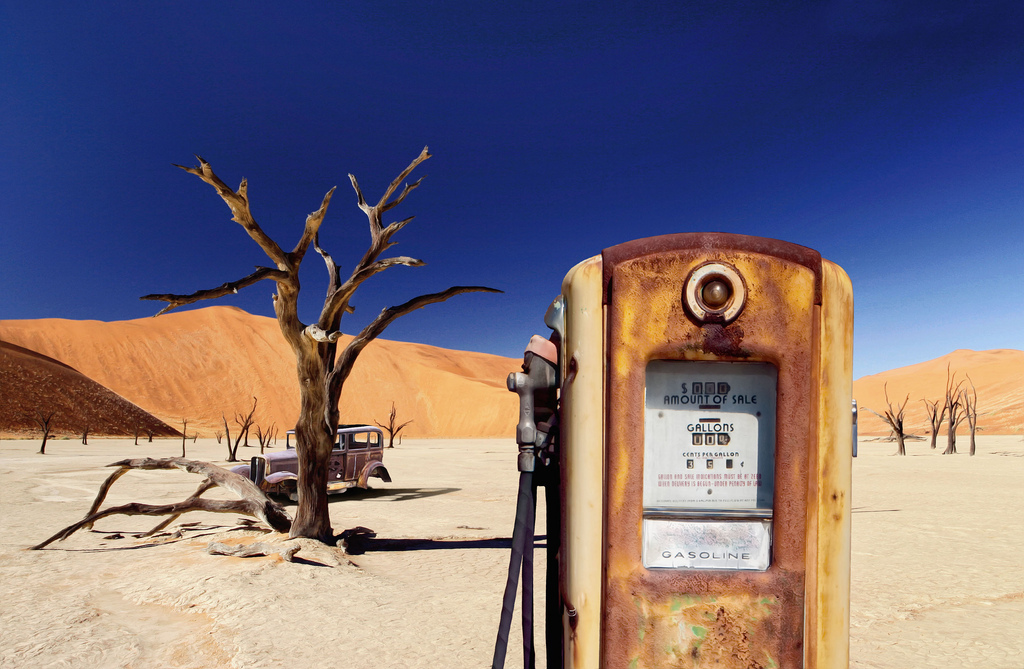 Desert Abandoned Gas Station Pump - David Blackwell