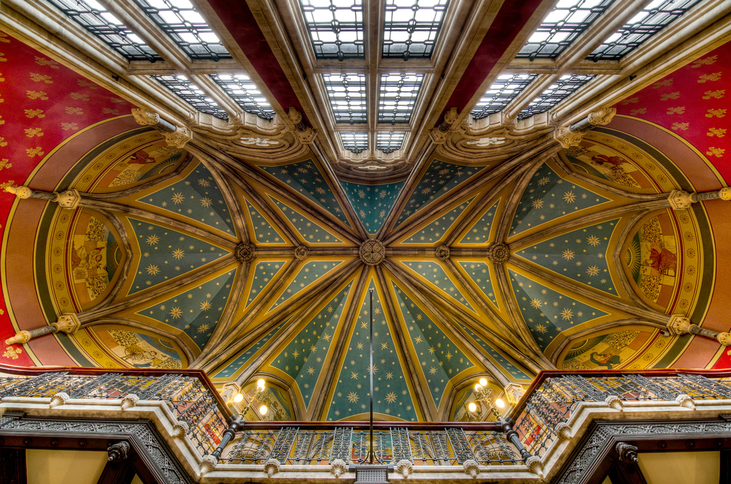 Glorious photo for the cieling of St Pancras Renaissance hotel