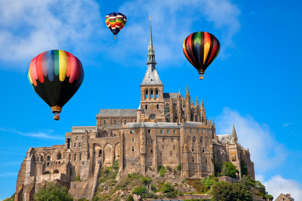 Hot Air Balloons - Mont Saint-Michael