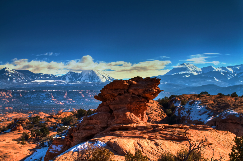 Moab mountains landscape