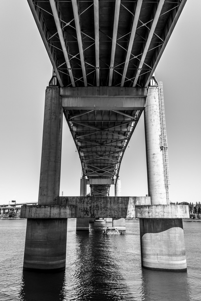 Under the Portland bridge